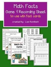 what a fun way to practice math facts and build fluency with math