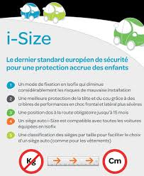 reglementation siege auto bebe la réglementation i size