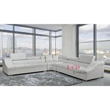 grand canap angle grand canapé d angle en cuir véritable montevideo xl pop design fr