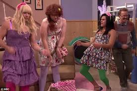 zac efron and seth rogen dress in drag with jimmy fallon daily
