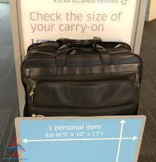 what is the united and american airlines carryon bag check real