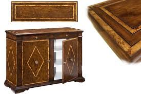 Break Front Cabinet Solid Walnut Sideboard With Chestnut Inlays