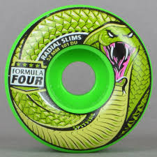 formula 4 spitfire spitfire wheels death adder radial slims 101d green formula four