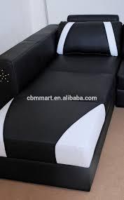 Luxury White And Black Leather Sofa Set Latest Design Sofa Set