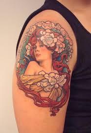 Girly Tattoo Sleeve Ideas 315 Best Mucha Art Nouveau Tattoos Images On Pinterest Tattoo