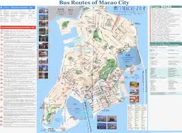 Macau China Map by Macau Bus Routes Map Macau Public Buses Map