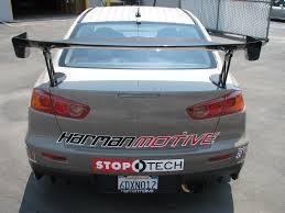 evo 10 spoiler apr gtc 300 carbon fiber adjustable rear wing spoiler evo x 08