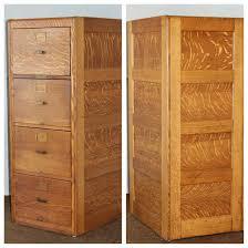 Antique Oak File Cabinet Oak 4 Drawer Vintage Quarter Sawn Oak File Cabinet Us Army Air