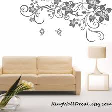 wall decor floral wall decor floral with worthy floral wall decal