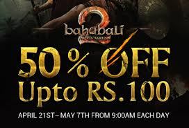 bahubali 2 online movie booking offers 50 off on tickets