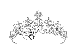 diadem coloring page for girls printable free
