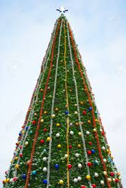 big christmas tree in sevastopol stock photo picture and royalty