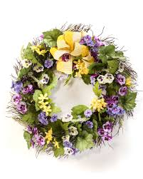 flower wreath pansy dianthus silk flower wreath at petals