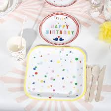 riscawin 90pcs happy birthday paper plates birthday decoration