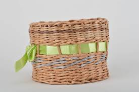 madeheart u003e handmade decorative paper basket woven newspaper