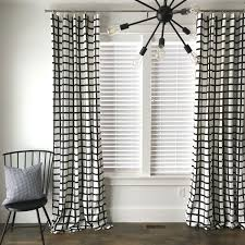 Black Check Curtains Windowpane Plaid Drapes Black And White Drapes Check Drapes