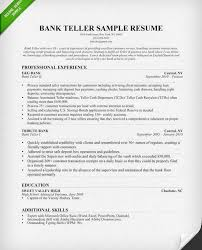 teller sample resume bank teller resume sample writing tips