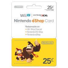 eshop gift cards 25 nintendo eshop card gaming gift cards uk