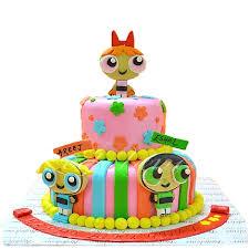 send 6lbs power puff themed cake redolence bake studio