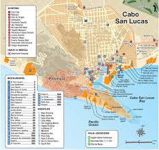 Puerto Vallarta Mexico Map by Cabo San Lucas Tourist Attractions Map