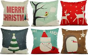 Decorative Christmas Pillows by Amazon Com Hosl Sd21 Merry Christmas Series Throw Pillow Case