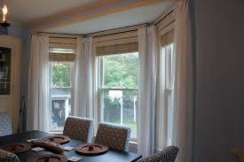 kitchen bay window curtain ideas furniture bay window curtain rod with white curtains and dining