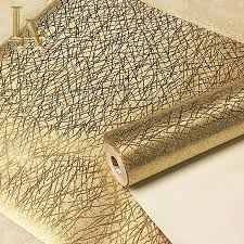 Wallpaper Home Decor Online Shop Noenname Null Luxury Textured Plaid Gold Foil