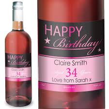birthday drink wine happy birthday personalised rose wine at toxicfox co uk
