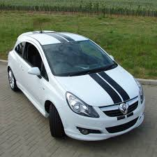 vauxhall white racing stripes for your vauxhall corsa