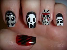 onyx nails contest entry slasher movie bad guy mani