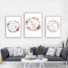 aliexpress com buy nordic beautiful flowers home sweet home