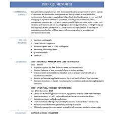 chef resume exle easy chef resume template free in chef resume sles free resume
