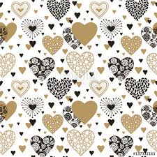 heart wrapping paper hearts seamless background s day ornament black