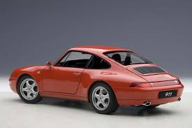 porsche red autoart highly detailed die cast model red porsche 911 carrera