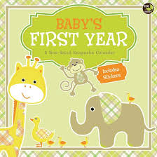 baby 1st year book baby s year a non dated keepsake calendar paperback target