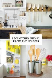 9 diy kitchen utensil racks and holders shelterness