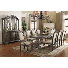 washed gray old world 7 piece dining set kiera collection rc