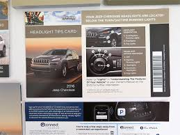 amazon com 2016 jeep cherokee owners manual guide book automotive