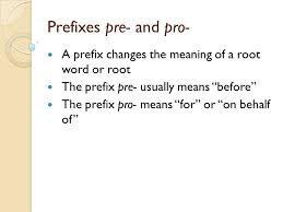 spelling words lesson 21 prefixes pre and pro ppt