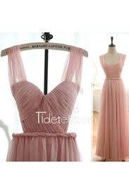 tulle for sale hot sale a line blush pink straps tulle backless prom dress