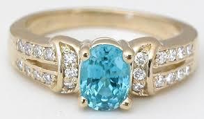 gold zircon rings images Blue zircon ring with split shank in 14k yellow gold gr 1136 jpg