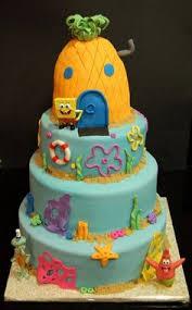 fondant tiered sponge bob birthday cake u2013 danville ky best