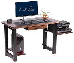 Desk Top Printer Stand by Large Shelf For Loft Desk Walnut Caretta Workspace
