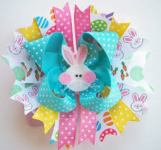 easter hair bows bunny hop easter the top hair bow
