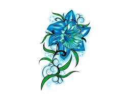 flower drawings for tattoos free designs beutiful blue flower