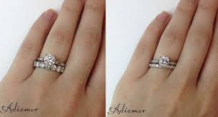 wedding band with engagement ring how do like to wear wedding bands adiamor