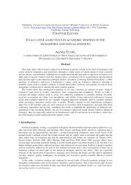 transfert de si e social sci evaluative adjectives in academic writing pdf available