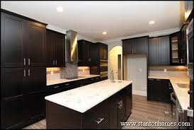 dark kitchen cabinets with light floors dark cabinets with light granite best color combinations photos