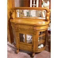 oak buffet or server w curved glass doors 1149747