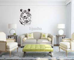 tiger head removable wall stickers diy home decoration decals see larger image
